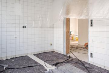 Baustelle Küche Arbeit