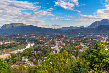 Viewpoint and beautiful landscape in luang prabang, Laos.