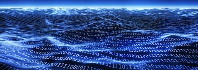 Meer an Daten - Datenflut Wall mural