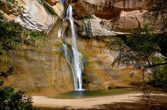 plunge pool at Lower Calf Creek Falls  Calf Creek Canyon, Grand Staircase - Escalante National Monument, Utah