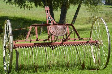 abandoned plough. Farming equipment