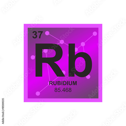 Vector Symbol Of Rubidium From The Periodic Table Of The Elements On