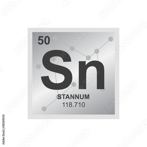 Vector Symbol Of Tin From The Periodic Table Of The Elements On The