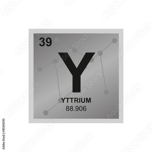 Vector Symbol Of Yttrium From The Periodic Table Of The Elements On