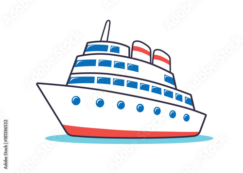 """Cruise Ship Icon."" Stock Image And Royalty-free Vector"