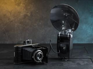 Retro Kamera mit Blitz