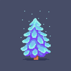 Pixel art fir tree.