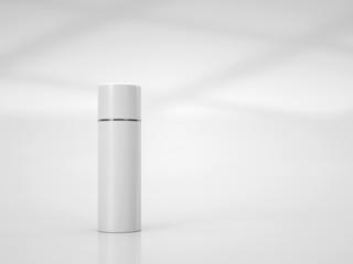 White cosmetic tube mockup.