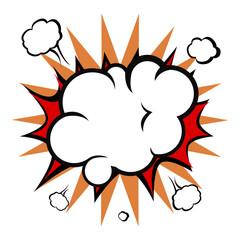 Comic explosion cloud