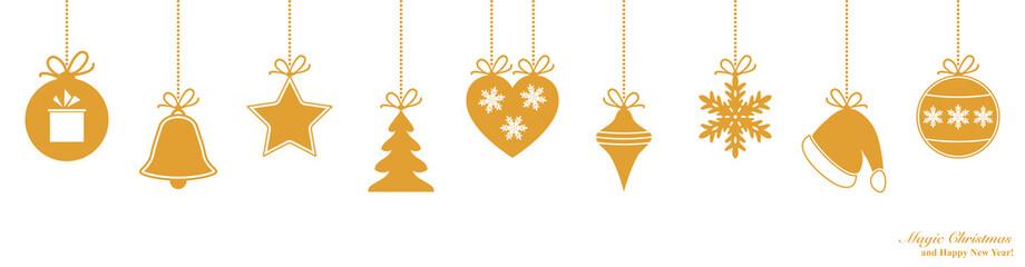 Christmas winner border with Xmas decoration.