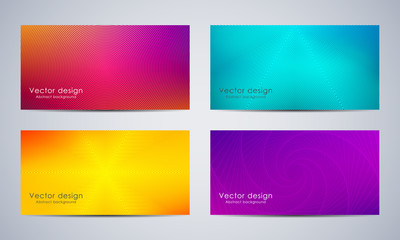 Set of banners design with abstract background, vector illustration.