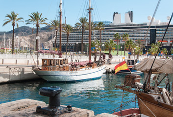 Old port in Cartagena, Spain