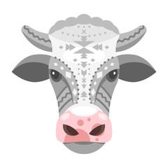 illustration of cow head