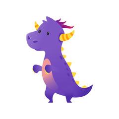 cute purple dragon