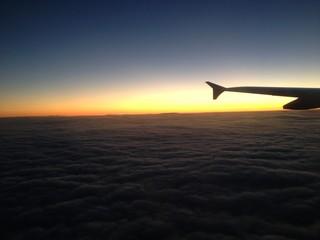 Couché de soleil dans les nuage