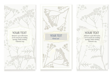 hand drawn floral cards