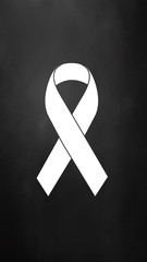 Awareness ribbon. Vector illustration.