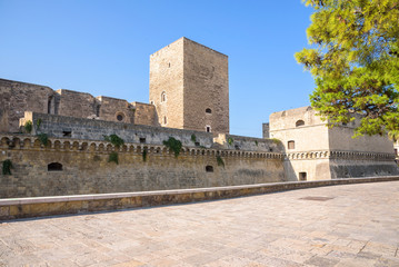 Western ramparts of the Norman Castle in Bari