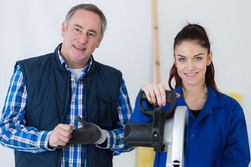 carpentry apprentice and teacher
