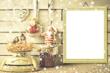 Christmas menu or greeting card