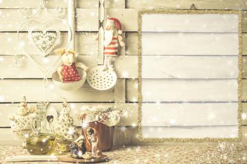 Christmas menu or greeting card
