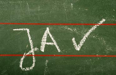 Ja - Symbolfoto für Zustimmung