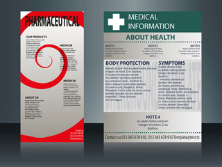 collection of 2 abstract medical business cards or visiting cards on different topic, arrange in horizontal. EPS 10.