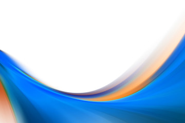 Illustration of a background with a blue wave