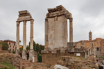Temple of Castor and Pollux and the Temple of Vesta