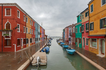 Aluminium Prints Venice Burano island cityscape