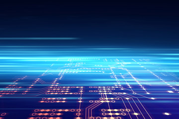 futuristic blue circuit board abstract background illustration