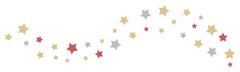 Christmas stars border and header decoration for your designs. Vector illustration