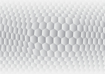 Hexagon gray and white abstract background vector