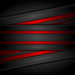 Dark red and black contrast tech background