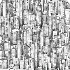 City Hand drawn background