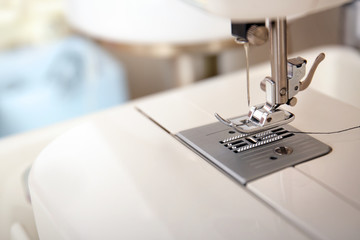 New sewing machine, closeup
