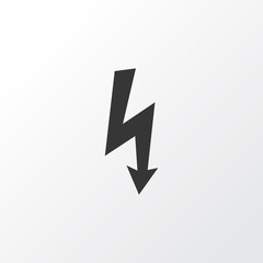 Electrical Hazard Icon Symbol. Premium Quality Isolated Lightning Element In Trendy Style.