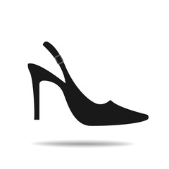 heel shoes vector icon