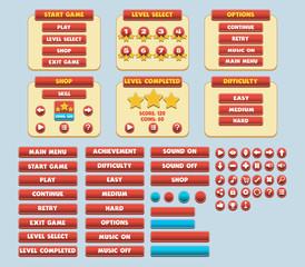 Game Simple Flat GUI Pack