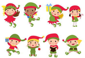 Elves photos royalty free images graphics vectors videos adobe stock - Clipart weihnachtswichtel ...
