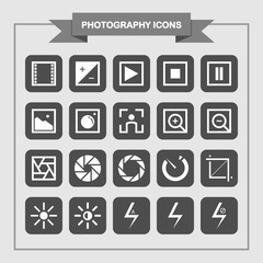 Simple Photography Icons