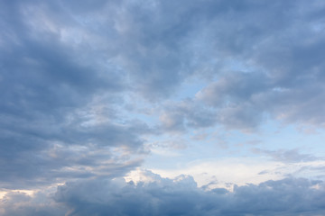 sky with clouds in evening