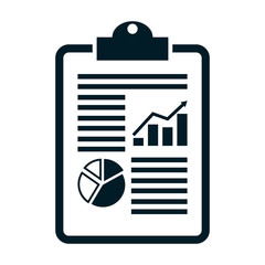 The business report icon. Audit and analysis, document. flat design vector