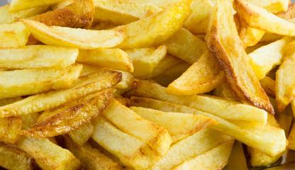 Pan-fried sliced potatoes