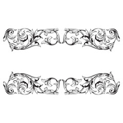 Classical baroque ornament vector