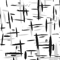 Black and gray longitudinal and transverse strokes on a white background for design and wallpaper.