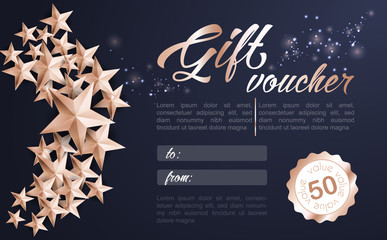 Christmas Background with Christmas Tree of Cutout Shining Gold