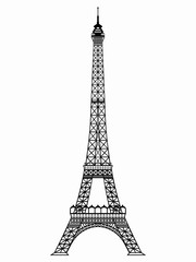 illustration of an eiffel tower , vector draw