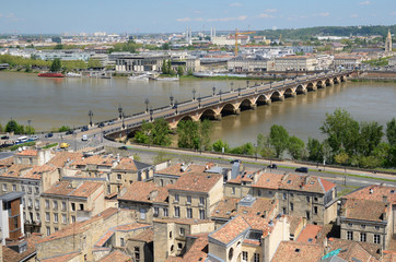 French city Bordeaux from above