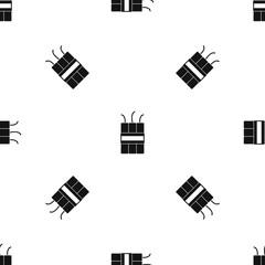 Dynamite explosives pattern seamless black